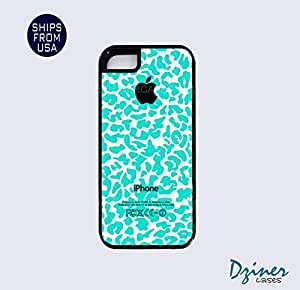 iPhone 5 5s Tough Case - Black Mint Leapord iPhone Cover
