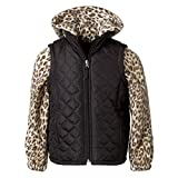 Pink Platinum Quilted Fleece Vest Girls Puffer, Kids Winter Jacket Pink and Navy
