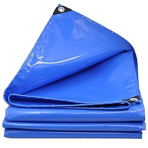 独特のマットレス溶岩CHAOXIANG ターポリン 厚い 防雨布 フロントガラス 日焼け止め 軽量 耐摩耗性 PVC、 600G/㎡、 14サイズ (色 : Blue, サイズ さいず : 1.8×3.8m)