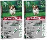 K9 ADVANTIX II Dog Flea and Tick 0-10 lbs Green 12 Month, My Pet Supplies
