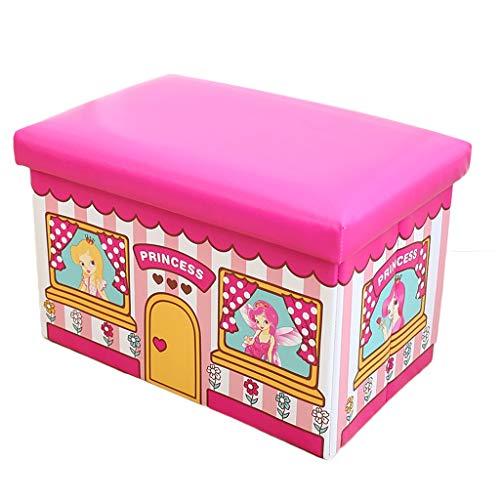 - Stool Storage Storage Stool Children's Cartoon Toys Can Sit Adult Multifunctional 493131cm ZHAOSHUNLI (Color : Princess Room)