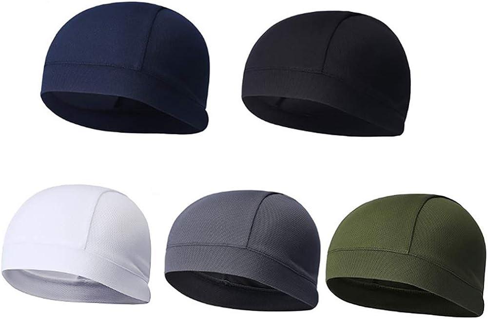 Unisex Cycling Sports Skull Cap Under Helmet Liner Elastic Hat Beanie Breathable