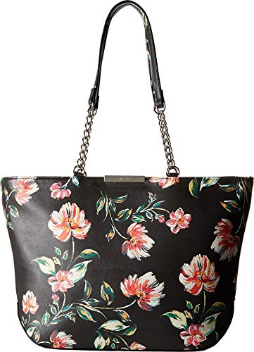 Nine West Womens Violetta Tote Black Multi One Size (Nine Handbags West)