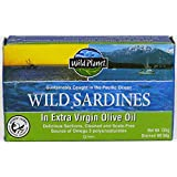 Wild Planet Wild Sardines in Extra Virgin Olive Oil– 125g Can (Pack of 12)