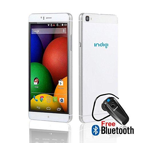 Indigi 3G SmartPhone Android 5.1 White (Dual SIM) Unlocked Phablet 2Sim -...
