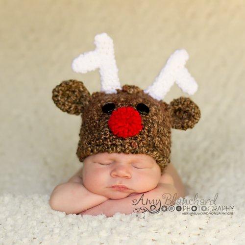 Melondipity Boy or Girl Handmade Reindeer Beanie Baby Hat -Christmas  Holiday Cap - Buy Online in UAE.  69570fc7f221