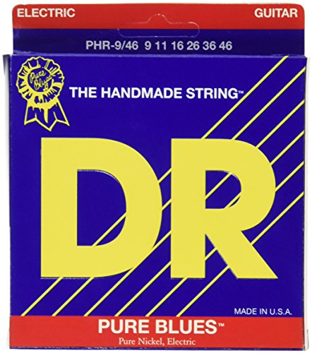 Nickel Electric Wrap Pure Guitar - DR Strings Pure Blues Pure Nickel Wrap Round Core 9/46