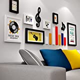 Photo Wall, Solid Wood Photo Wall, Music Creative Wall, Frame Combination Wall Decoration, Living Room Sofa Children's Room Backdrop Wall ( Color : 2# )