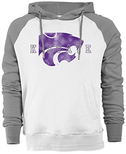 Camp David NCAA Kansas State Wildcats Men's Sueded Fleece Pullover Hoodie, Large, Ivory/Oxford