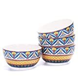 Bico Havana 26oz Ceramic Soup Bowls Set of 4, for