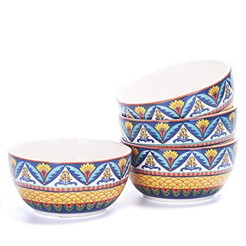 Bico Havana 26oz Ceramic Soup Bowls Set of 4, for
