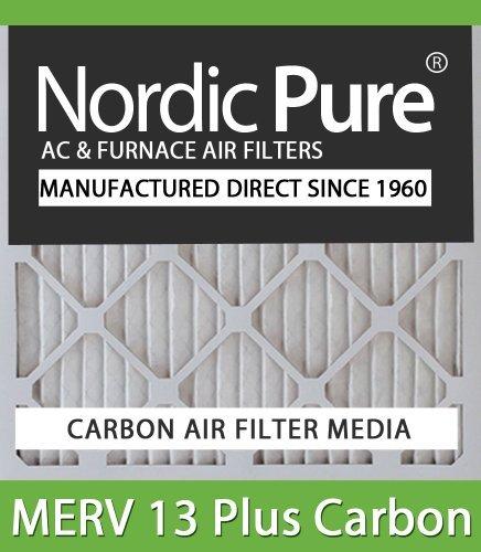 Nordic Pure 17x25x1ExactCustomM13+C-12 MERV 13 + Carbon AC Furnace Filters 12 Piece [並行輸入品]   B07NCVCQ9W