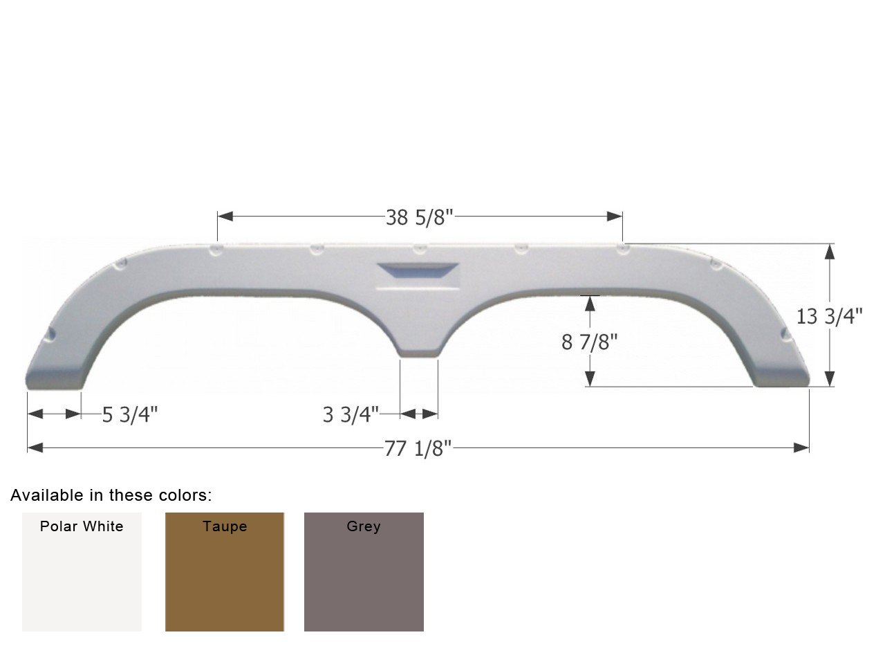 Taupe ICON Fleetwood Tandem Fender Skirt FS720