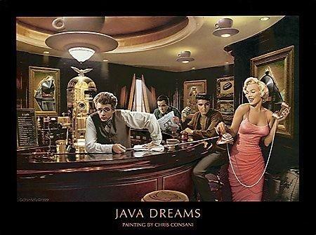 Java Dreams By Chris Consani 14 X11  Art Print Poster