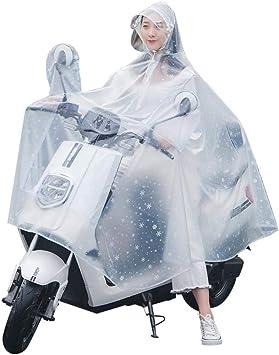 XXXL Impermeabile Moto Doppio Cappuccio Grotte Auto elettrica Poncho Bicicletta Equitazione Notte Riflettente Cappuccio Impermeabile per Uomo e Donna