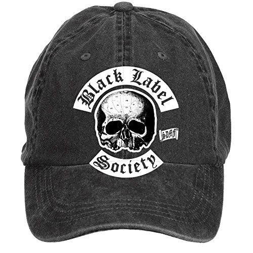 qikdg-custom-mens-adjustable-black-label-society-baseball-cap-washed-100-cotton-black
