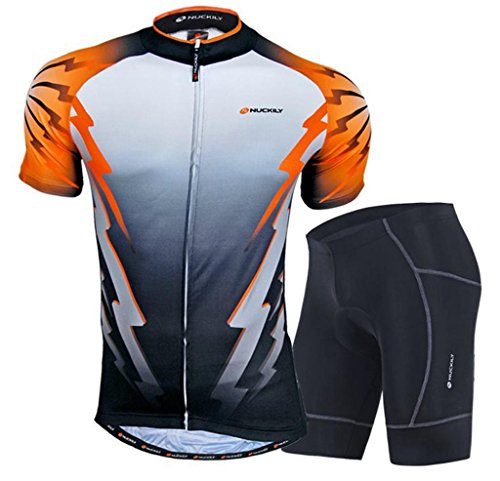 Nuckily Men's Cycling Sports Bicycle Bike Cycle Short Sleeve Jersey Breathable Mountain Clothing