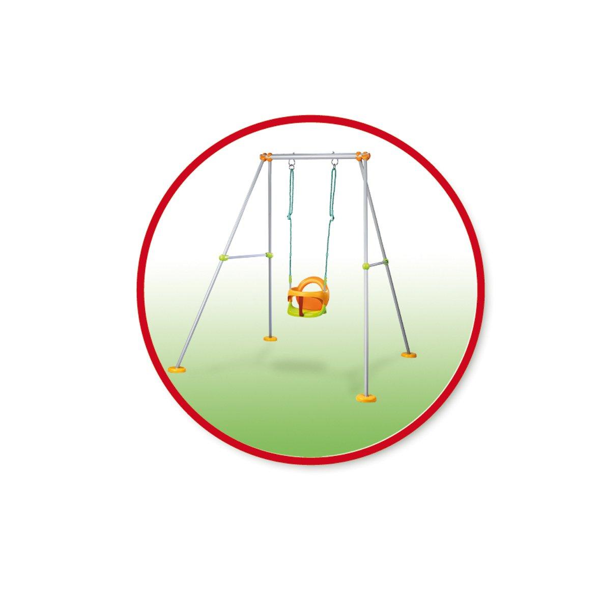 Jeu de Plein Air Si/ège Evolutif 2 en 1-180 cm Portique M/étal Plus 310191 Smoby