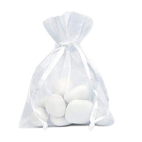 48b47ab8a Gespout 100 unidades bolsitas de organza bolsa de regalo bonito bolsillos  Cordón para joyas boda Partie