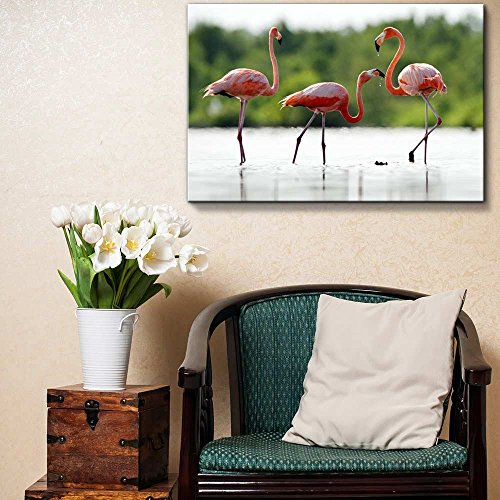 The Pink Caribbean Flamingo on Water Home Deoration Wall Decor