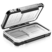 Neewer® 14 Slots Memory Card Case Holder Waterproof Storage Cards Box Holder Stores for 10 Micro SD Cards 4 SD Cards & 2 CF Cards NW-SD01(Black)
