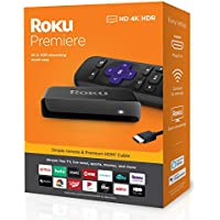 Roku Premiere 4K 3920R HDR Streaming Media Player (Black)