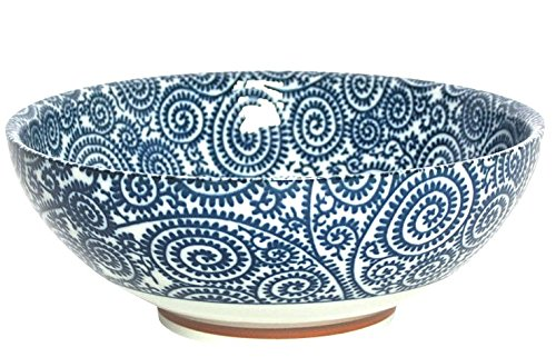 Japanese Blue Vines Large 8.25 '' Soup, Ramen Noodle or Serving Bowl by Miya