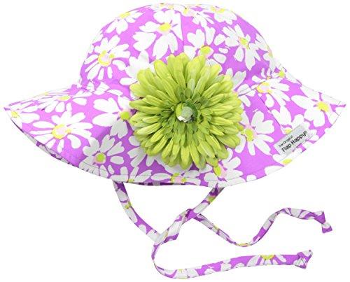 Flap Happy Girls' UPF 50+ Floppy Hat with Flower, Daisy Jane, X-Small