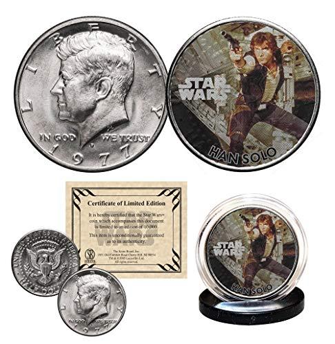 (HAN SOLO - STAR WARS Officially Licensed 1977 JFK Half Dollar U.S. Coin)