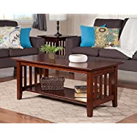 Atlantic Furniture AH15204 Mission Coffee Table Rubberwood, Walnut