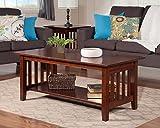 Cheap Atlantic Furniture AH15204 Mission Coffee Table Rubberwood, Walnut