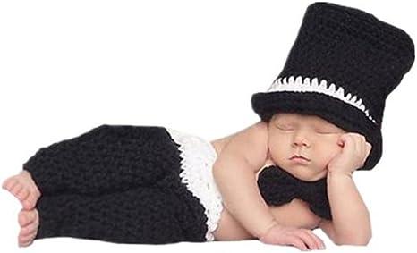 BINLUNNU bebé recién nacido fotografía apoyos niño Niña Gorro de ...