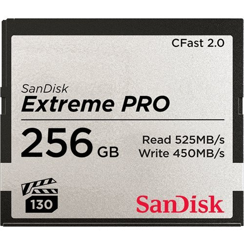 SanDisk 256GB Extreme PRO CFast 2.0 Memory Card
