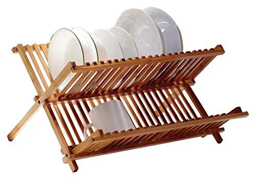 Vanderbilt Home V01351 Folding Dish Rack, Medium, Bamboo
