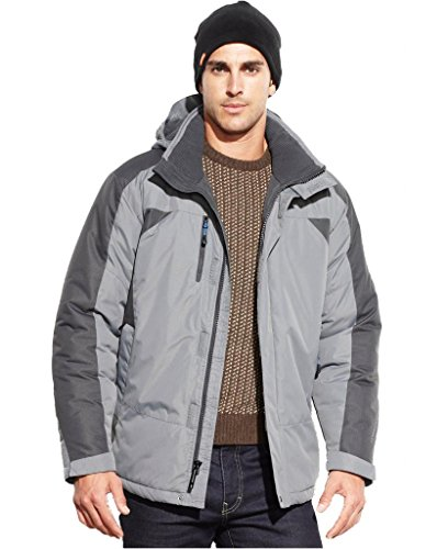 Hawke & Co. Outfitter Men's Heavyweight Hooded Parka Smoke Pearl Medium (Outfitter Hawke Co)