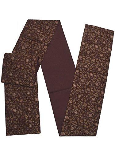 寄り添う船形衣服[ 京都きもの町 ] お仕立て上がり 京袋帯「葡萄茶色 牡丹唐草」