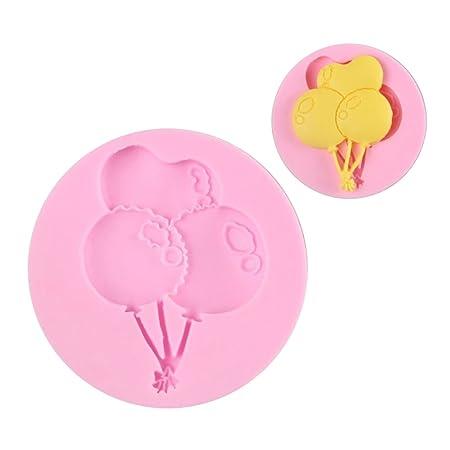 benhai 1pc cumpleaños balón silicona molde molde pastel decoración ...