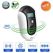 ZMKDLL Pest Repellent Ultrasound Ultrasonic Pest Repeller Electronic Control Smart Bug Repeller Plug Squirrel Repellent to Repel and Prevent MouseAntMosquitoSpiderRodentRoachRatsFleaInsect