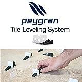 "1/16"" (2mm) Peygran Economy Set of 300clips+100wedges anti lippage tile leveling system for PROs & DIYs"