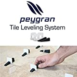 1/16'' (2mm) Peygran Economy Set of 300clips+100wedges anti lippage tile leveling system for PROs & DIYs