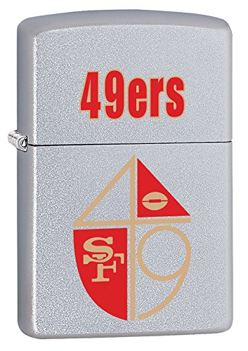 Zippo Lighter NFL Throwback San Francisco 49ERS Satin Chrome by Zippo