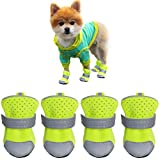 Ulandago Winter Dog Boots for Small Mini Dogs in Snow