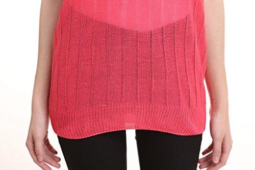 Vogueearth Mujer Niñas Pulovers Jerseys Suéteres Suéter Flojo Suéter Casual Blusa de las Rojo-1