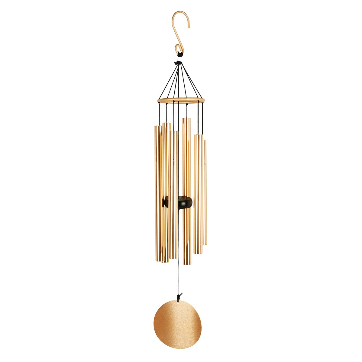 Agirlgle Wind Chimes Outdoor- Tuned 28'' Garden Memorial Windchimes for Patio and Terrace - Best Large Musical Windchime Outdoor and Home Decoration(Golden)