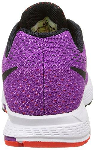 Nike Zoom Pegasus 32 (GS) - Zapatillas de running, Niñas Morado / Negro / Rojo (Vivid Purple / Black-Brght Crmsn)