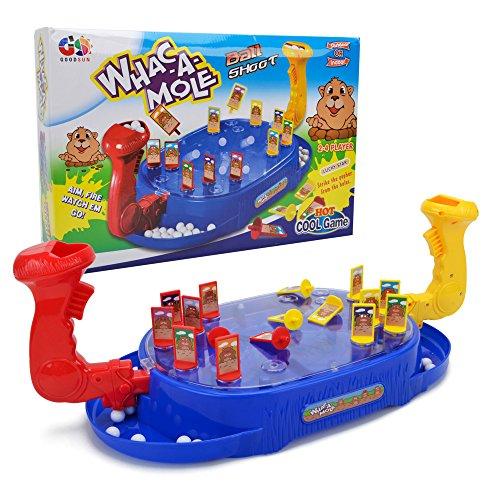 卓上ゲーム テーブルゲーム ボードゲーム モグラ叩き 対戦ゲーム 子供 キッズ 家族で楽しめる シュートゲーム ポータブル おもちゃ トイ