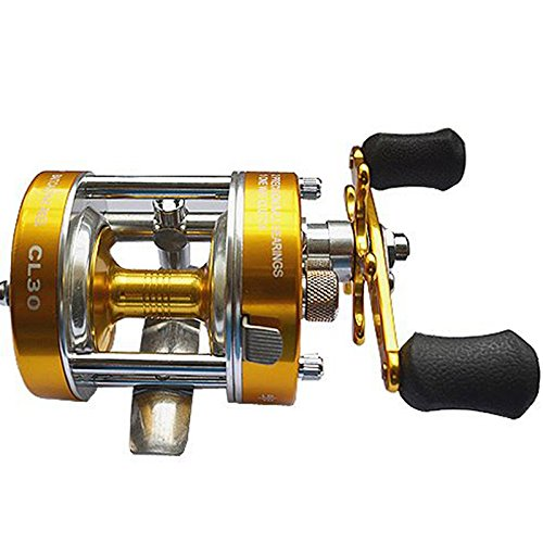 Tsptool Baitcaster Reels Double Handed Mental Round Spinning Fishing Reels