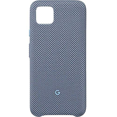 Google Pixel Case for Pixel 4 - Protective Phone Cover with Tailored Fabric and Active Edge Compatible - Official Google Pixel Cover (Blue-ish)