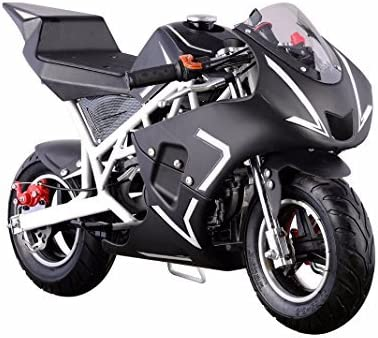 XtremepowerUS 40cc 4-Stroke Gas-Powered Mini Pocket Motorcycle Ride-on Padded Seat EPA Approved (White)
