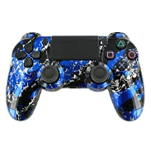 """Blue Splash"" PS4 Custom UN-MODDED Controller Exclusive Design [video game]"